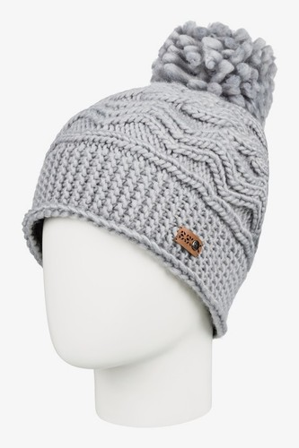 Женская шапка с помпоном ROXY Winter (WARM HEATHER GREY (sjeh))