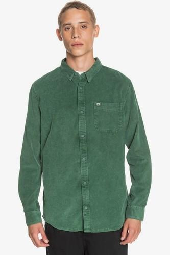 Мужская рубашка с длинным рукавом QUIKSILVER Smoke Trail (GREENER PASTURES (gsg0), M) мужская шапка quiksilver m