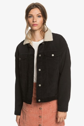 Женская вельветовая куртка ROXY Good Fortune (ANTHRACITE (kvj0), XS)