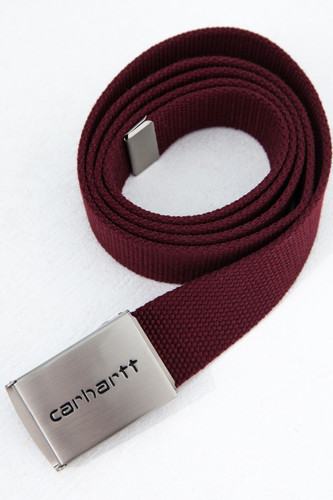 Ремень CARHARTT Clip Belt Chrome Bordeaux фото 4