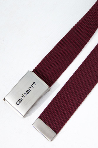 Ремень CARHARTT Clip Belt Chrome Bordeaux фото 5