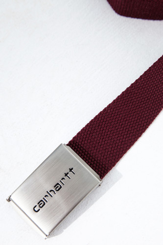 Ремень CARHARTT Clip Belt Chrome Bordeaux фото 6