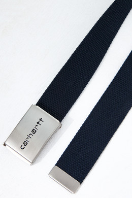 Ремень CARHARTT Clip Belt Chrome Dark Navy