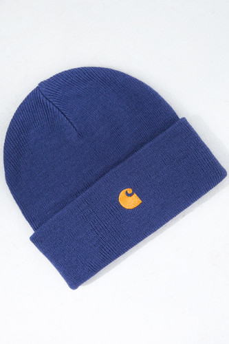 Шапка CARHARTT Chase Beanie Gold Viola/Gold фото 5