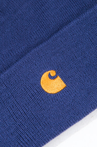 Шапка CARHARTT Chase Beanie Gold Viola/Gold фото 6