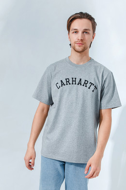 Футболка CARHARTT S/S University T-Shirt Grey Heather/Black