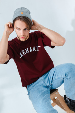 Футболка CARHARTT S/S University T-Shirt Bordeaux/White