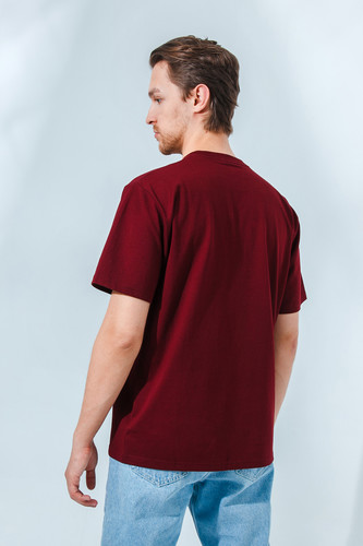 Футболка CARHARTT S/S University T-Shirt Bordeaux/White фото 7