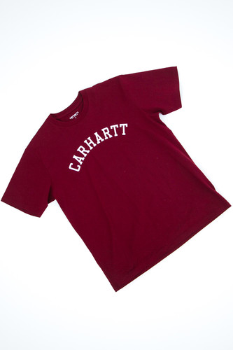Футболка CARHARTT S/S University T-Shirt Bordeaux/White фото 8