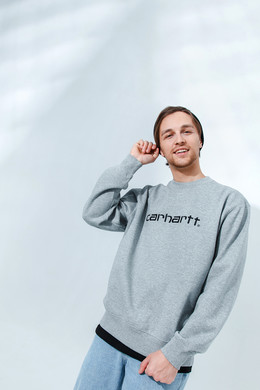 Толстовка CARHARTT Grey Heather/Black