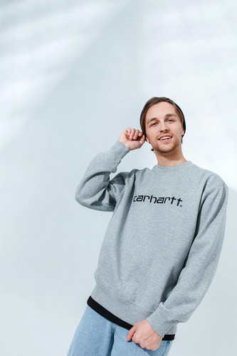 Толстовка CARHARTT Grey Heather/Black фото 6
