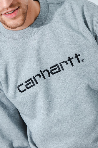 Толстовка CARHARTT Grey Heather/Black фото 7