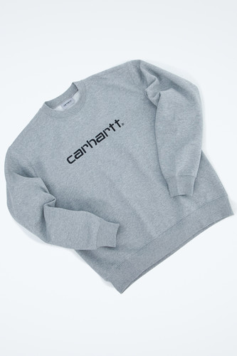 Толстовка CARHARTT Grey Heather/Black фото 9