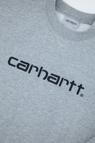 Толстовка CARHARTT Grey Heather/Black фото 10