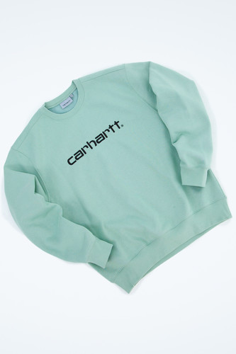 Толстовка CARHARTT Frosted Green/Black фото 7