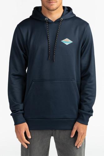 Флисовый джемпер с капюшоном BILLABONG A Frame Pullover (Темно-Синий, M)