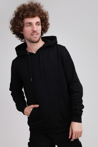Толстовка URBAN CLASSICS Basic Sweat Hoody Black фото 5