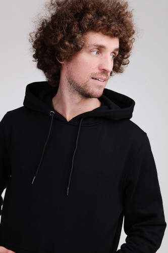 Толстовка URBAN CLASSICS Basic Sweat Hoody Black фото 7