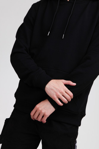 Толстовка URBAN CLASSICS Basic Sweat Hoody Black фото 8