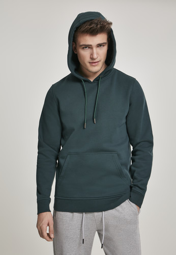 Толстовка URBAN CLASSICS Basic Sweat Hoody Bottle Green фото 6