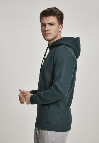 Толстовка URBAN CLASSICS Basic Sweat Hoody Bottle Green фото 8
