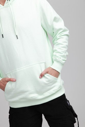 Толстовка URBAN CLASSICS Basic Sweat Hoody Light Mint фото 7