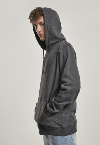 Толстовка URBAN CLASSICS Basic Sweat Hoody Charcoal фото 4