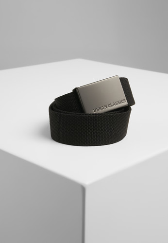 Ремень URBAN CLASSICS Canvas Belts Black фото 2