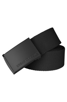 Ремень URBAN CLASSICS Canvas Belts Black/Black фото