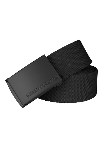 Ремень URBAN CLASSICS Canvas Belts Black/Black фото 2