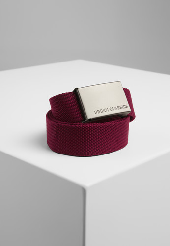 Ремень URBAN CLASSICS Canvas Belts Burgundy фото 2