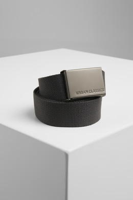 Ремень URBAN CLASSICS Canvas Belts Charcoal фото