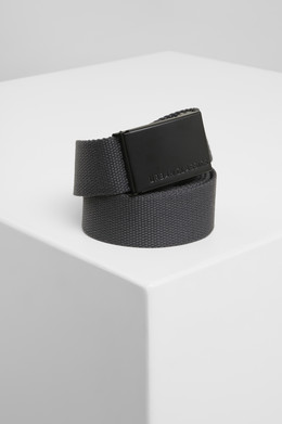 Ремень URBAN CLASSICS Canvas Belts Charcoal/Black фото