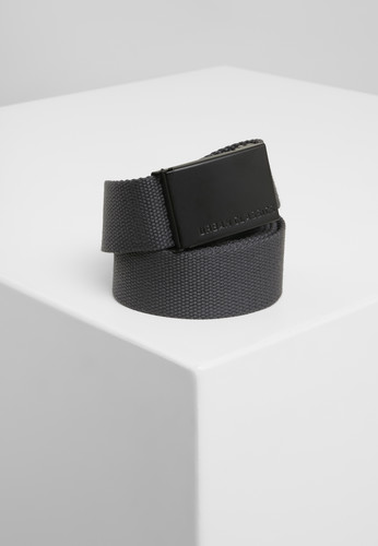 Ремень URBAN CLASSICS Canvas Belts Charcoal/Black фото 2