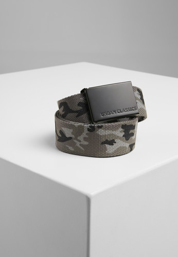 Ремень URBAN CLASSICS Canvas Belts Grey Camo/Black фото 2