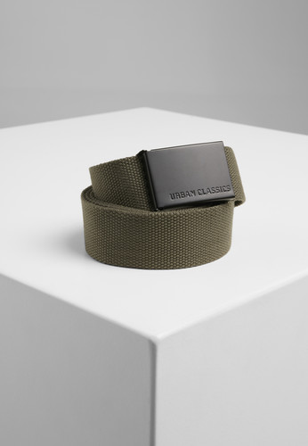 Ремень URBAN CLASSICS Canvas Belts Olive/Black фото 2