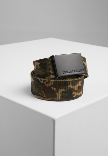 Ремень URBAN CLASSICS Canvas Belts Woodcamo/Black фото 2