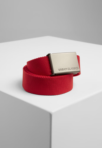 Ремень URBAN CLASSICS Canvas Belts Red фото 2