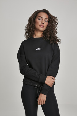 Толстовка MISTER TEE Ladies OFF Oversize Crewneck Black фото