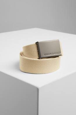 Ремень URBAN CLASSICS Canvas Belts Beige фото