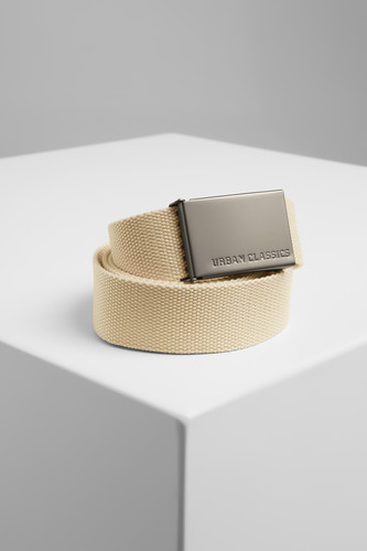 Ремень URBAN CLASSICS Canvas Belts (Beige, O/S)