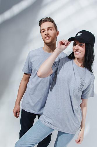 Футболка GOOD STORY Русалка (с карманом) (Серый, XS) футболка good story русалка с карманом серый xs