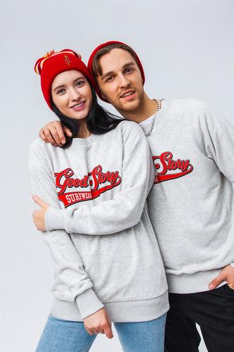 Толстовка GOOD STORY GS Team Logo (Серый Меланж, XS) футболка good story team logo серый меланж xs