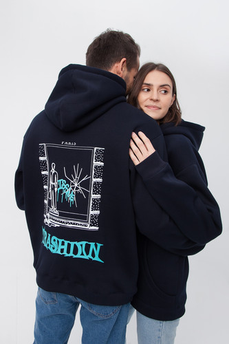 Худи ISSUE Paris hoody Темно-Синий фото 7