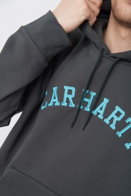 Толстовка CARHARTT Hooded University Patch Sweatshirt Dark Teal/Frosted Turquoise