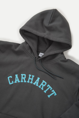 Толстовка CARHARTT Hooded University Patch Sweatshirt Dark Teal/Frosted Turquoise фото 9