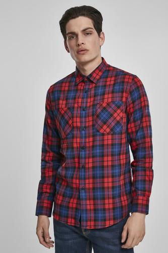Рубашка URBAN CLASSICS Checked Flanell Shirt 5 (Red/Royal, XL)