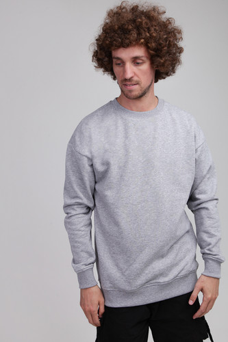 Толстовка URBAN CLASSICS Sweat Crewneck Grey фото 5