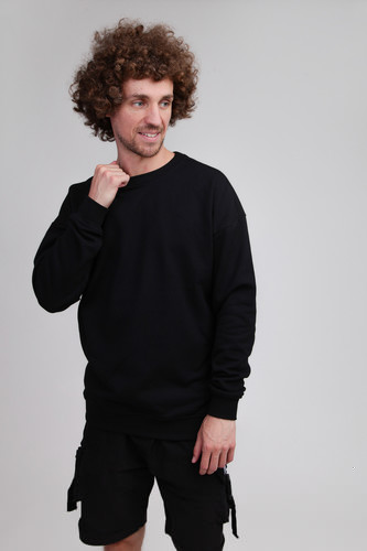 Толстовка URBAN CLASSICS Sweat Crewneck Black фото 3