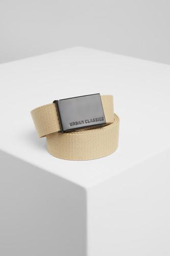 Ремень URBAN CLASSICS Canvas Belts (Beige/Black, O/S)